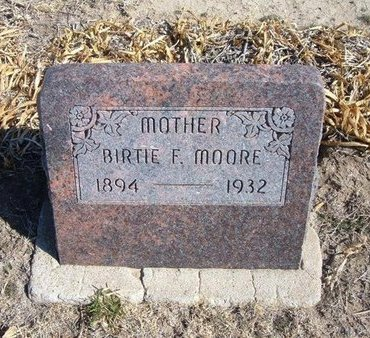 MOORE, BIRTIE F - Wichita County, Kansas | BIRTIE F MOORE - Kansas Gravestone Photos