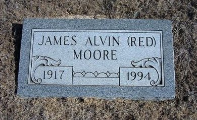 "MOORE, JAMES ALVIN ""RED"" - Wichita County, Kansas | JAMES ALVIN ""RED"" MOORE - Kansas Gravestone Photos"