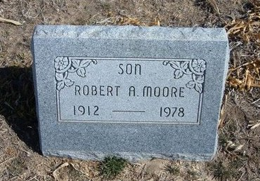 MOORE, ROBERT A - Wichita County, Kansas | ROBERT A MOORE - Kansas Gravestone Photos