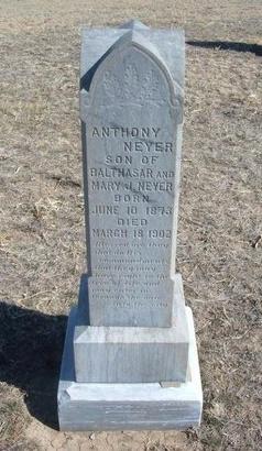 NEYER, ANTHONY - Wichita County, Kansas | ANTHONY NEYER - Kansas Gravestone Photos