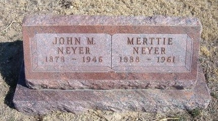 "MEADOW NEYER, MERTYLE ""MERTTIE - Wichita County, Kansas 
