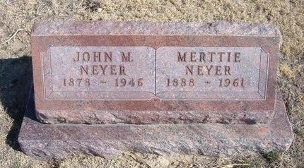 NEYER, JOHN M - Wichita County, Kansas | JOHN M NEYER - Kansas Gravestone Photos
