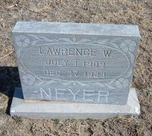 NEYER, LAWRENCE W. - Wichita County, Kansas   LAWRENCE W. NEYER - Kansas Gravestone Photos