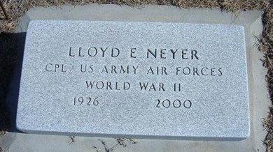 NEYER, LLOYD E   (VETERAN WWII) - Wichita County, Kansas   LLOYD E   (VETERAN WWII) NEYER - Kansas Gravestone Photos