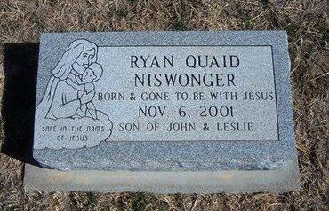 NISWONGER, RYAN QUAID - Wichita County, Kansas   RYAN QUAID NISWONGER - Kansas Gravestone Photos