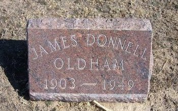 OLDHAM, JAMES DONNELL - Wichita County, Kansas | JAMES DONNELL OLDHAM - Kansas Gravestone Photos