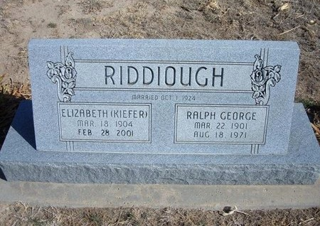 RIDDIOUGH, ELIZABETH - Wichita County, Kansas | ELIZABETH RIDDIOUGH - Kansas Gravestone Photos