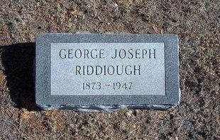 RIDDIOUGH, GEORGE JOSEPH - Wichita County, Kansas   GEORGE JOSEPH RIDDIOUGH - Kansas Gravestone Photos