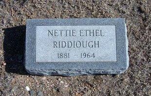 RIDDIOUGH, NETTIE ETHEL - Wichita County, Kansas | NETTIE ETHEL RIDDIOUGH - Kansas Gravestone Photos