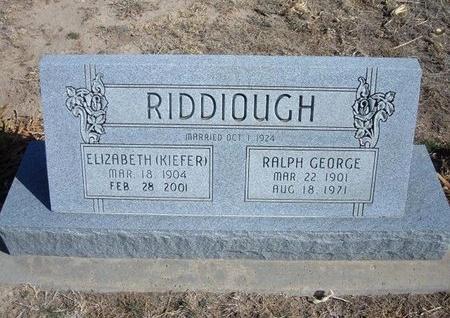KIEFER RIDDIOUGH, ELIZABETH - Wichita County, Kansas   ELIZABETH KIEFER RIDDIOUGH - Kansas Gravestone Photos