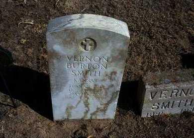 SMITH, VERNON BURTON  (VETERAN) - Wichita County, Kansas   VERNON BURTON  (VETERAN) SMITH - Kansas Gravestone Photos