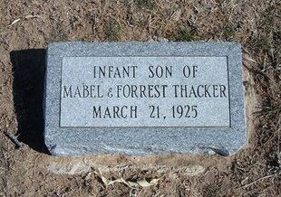 THACKER, INFANT SON - Wichita County, Kansas | INFANT SON THACKER - Kansas Gravestone Photos