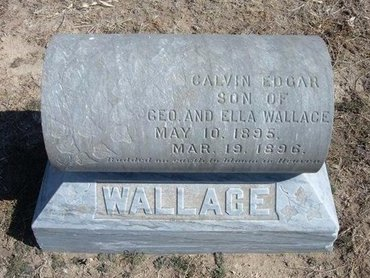 WALLACE, CALVIN EDGAR - Wichita County, Kansas | CALVIN EDGAR WALLACE - Kansas Gravestone Photos