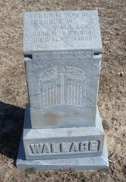 PREEDY WALLACE, ELLA MARSH - Wichita County, Kansas | ELLA MARSH PREEDY WALLACE - Kansas Gravestone Photos