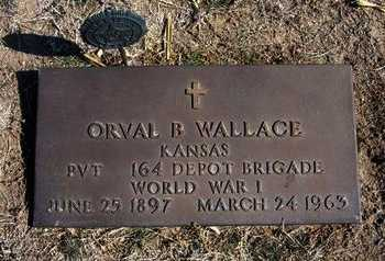 WALLACE, ORVAL BEAUMONT  (VETERAN WWI) - Wichita County, Kansas | ORVAL BEAUMONT  (VETERAN WWI) WALLACE - Kansas Gravestone Photos