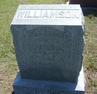 WILLIAMSON, MYRTLE  M - Wichita County, Kansas | MYRTLE  M WILLIAMSON - Kansas Gravestone Photos