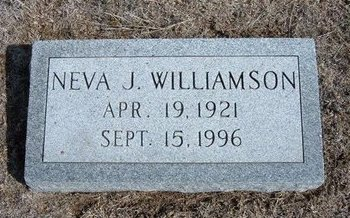 WILLIAMSON, NEVA J - Wichita County, Kansas | NEVA J WILLIAMSON - Kansas Gravestone Photos