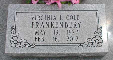 FRANKENBERY, VIRGINIA IRENE - Wilson County, Kansas | VIRGINIA IRENE FRANKENBERY - Kansas Gravestone Photos