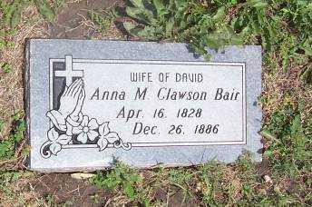 CLAWSON BAIR, ANNA MARIE - Wilson County, Kansas | ANNA MARIE CLAWSON BAIR - Kansas Gravestone Photos