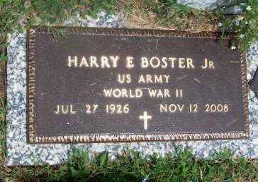 BOSTER, HARRY EDGAR, JR   (VETERAN WWII) - Wilson County, Kansas | HARRY EDGAR, JR   (VETERAN WWII) BOSTER - Kansas Gravestone Photos