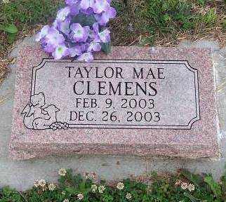 CLEMENTS, TAYLOR MAE - Wilson County, Kansas | TAYLOR MAE CLEMENTS - Kansas Gravestone Photos