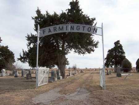 *ENTRANCE, FARMINGTON CEMETERY - Wilson County, Kansas | FARMINGTON CEMETERY *ENTRANCE - Kansas Gravestone Photos