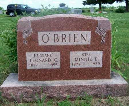 THOMPSON O'BRIEN, MINNIE E - Wilson County, Kansas | MINNIE E THOMPSON O'BRIEN - Kansas Gravestone Photos