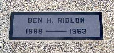 RIDLON, BENJAMIN HARRISON - Wilson County, Kansas | BENJAMIN HARRISON RIDLON - Kansas Gravestone Photos