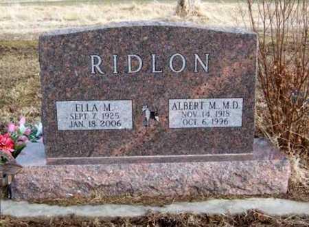 WICKISER RIDLON, ELLA MARGRETHA - Wilson County, Kansas | ELLA MARGRETHA WICKISER RIDLON - Kansas Gravestone Photos