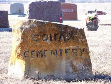 *ROCK SIGN, DIRECTIONS TO COLFAX CEMETERY - Wilson County, Kansas | DIRECTIONS TO COLFAX CEMETERY *ROCK SIGN - Kansas Gravestone Photos
