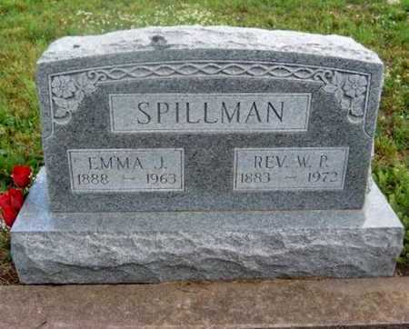 SPILLMAN, EMMA JANE - Wilson County, Kansas | EMMA JANE SPILLMAN - Kansas Gravestone Photos