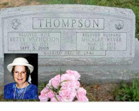 THOMPSON, MCCAGER WEVER - Wilson County, Kansas | MCCAGER WEVER THOMPSON - Kansas Gravestone Photos