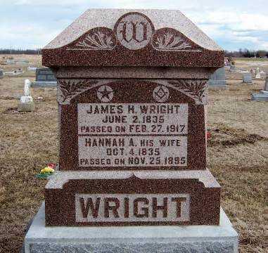 WRIGHT, HANNAH A - Wilson County, Kansas | HANNAH A WRIGHT - Kansas Gravestone Photos