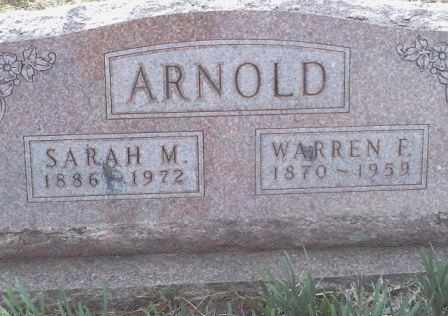 ARNOLD, WARREN FREDERICK - Woodson County, Kansas | WARREN FREDERICK ARNOLD - Kansas Gravestone Photos