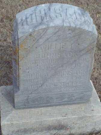 BOHNSACK, JOHN A - Woodson County, Kansas | JOHN A BOHNSACK - Kansas Gravestone Photos