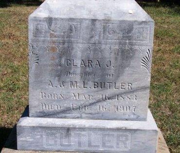 BUTLER, CLARA J - Woodson County, Kansas | CLARA J BUTLER - Kansas Gravestone Photos