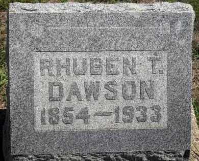 DAWSON, REUBEN THOMAS - Woodson County, Kansas | REUBEN THOMAS DAWSON - Kansas Gravestone Photos