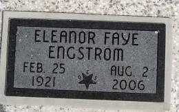 ENGSTROM, ELEANOR FAYE - Woodson County, Kansas | ELEANOR FAYE ENGSTROM - Kansas Gravestone Photos