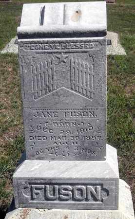FUSON, JANE - Woodson County, Kansas | JANE FUSON - Kansas Gravestone Photos