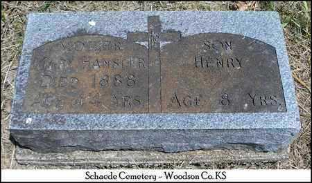 HANSLER, MARY - Woodson County, Kansas | MARY HANSLER - Kansas Gravestone Photos