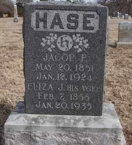 HASE, JACOB PENTURF - Woodson County, Kansas | JACOB PENTURF HASE - Kansas Gravestone Photos