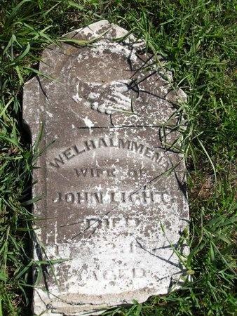 LIGHT, WELHALMMENNA - Woodson County, Kansas | WELHALMMENNA LIGHT - Kansas Gravestone Photos