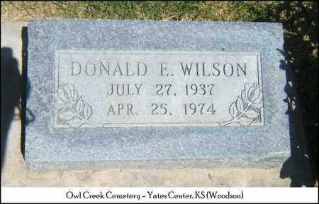 WILSON, DONALD E - Woodson County, Kansas   DONALD E WILSON - Kansas Gravestone Photos