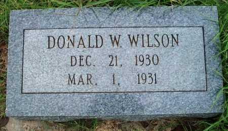 WILSON, DONALD WAYNE - Woodson County, Kansas   DONALD WAYNE WILSON - Kansas Gravestone Photos