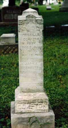 DAVISON COMPTON, PRISCILLA - Wyandotte County, Kansas | PRISCILLA DAVISON COMPTON - Kansas Gravestone Photos