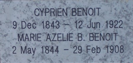 BENOIT, MARIE AZALIE (CLOSEUP) - Acadia County, Louisiana | MARIE AZALIE (CLOSEUP) BENOIT - Louisiana Gravestone Photos