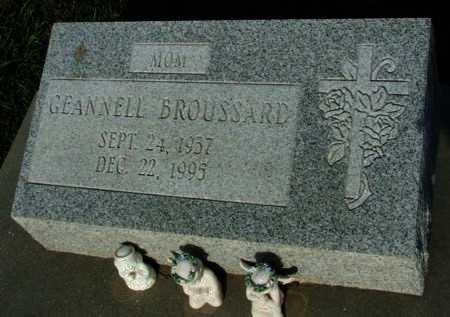BROUSSARD, GEANNELL - Acadia County, Louisiana | GEANNELL BROUSSARD - Louisiana Gravestone Photos