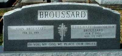 BROUSSARD, ETIES MARY - Acadia County, Louisiana   ETIES MARY BROUSSARD - Louisiana Gravestone Photos