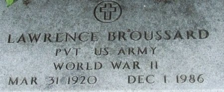 BROUSSARD, LAWRENCE (VETERAN WWII) - Acadia County, Louisiana | LAWRENCE (VETERAN WWII) BROUSSARD - Louisiana Gravestone Photos
