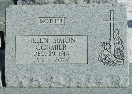 SIMON CORMIER, HELEN - Acadia County, Louisiana | HELEN SIMON CORMIER - Louisiana Gravestone Photos